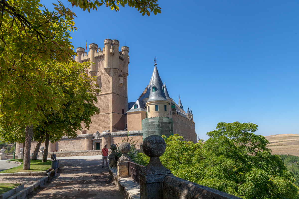 View of the Alcazar of Segovia.