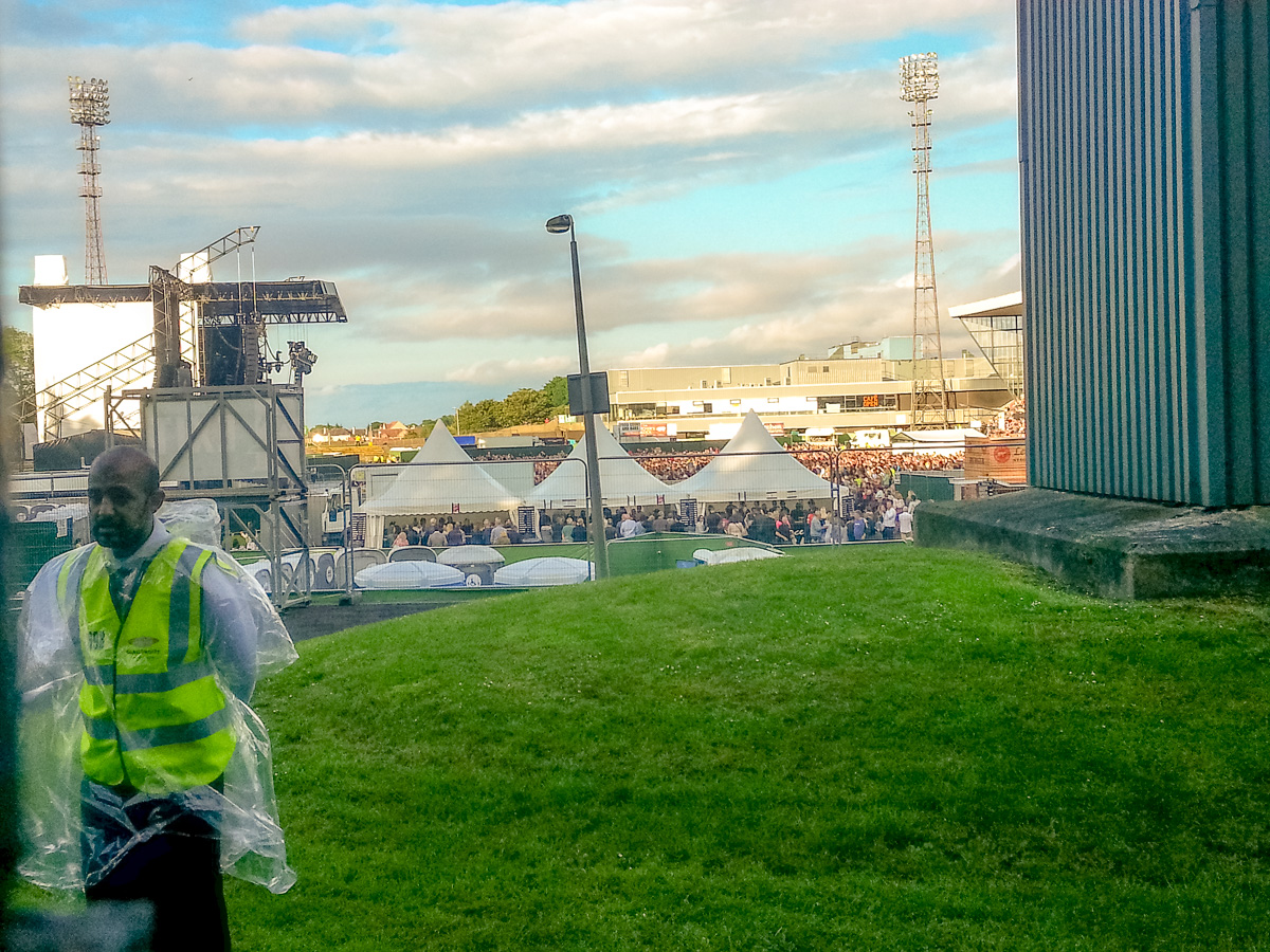 The stage at Meadowbank Stadium, about a block from our apartment - WCF-1.jpg