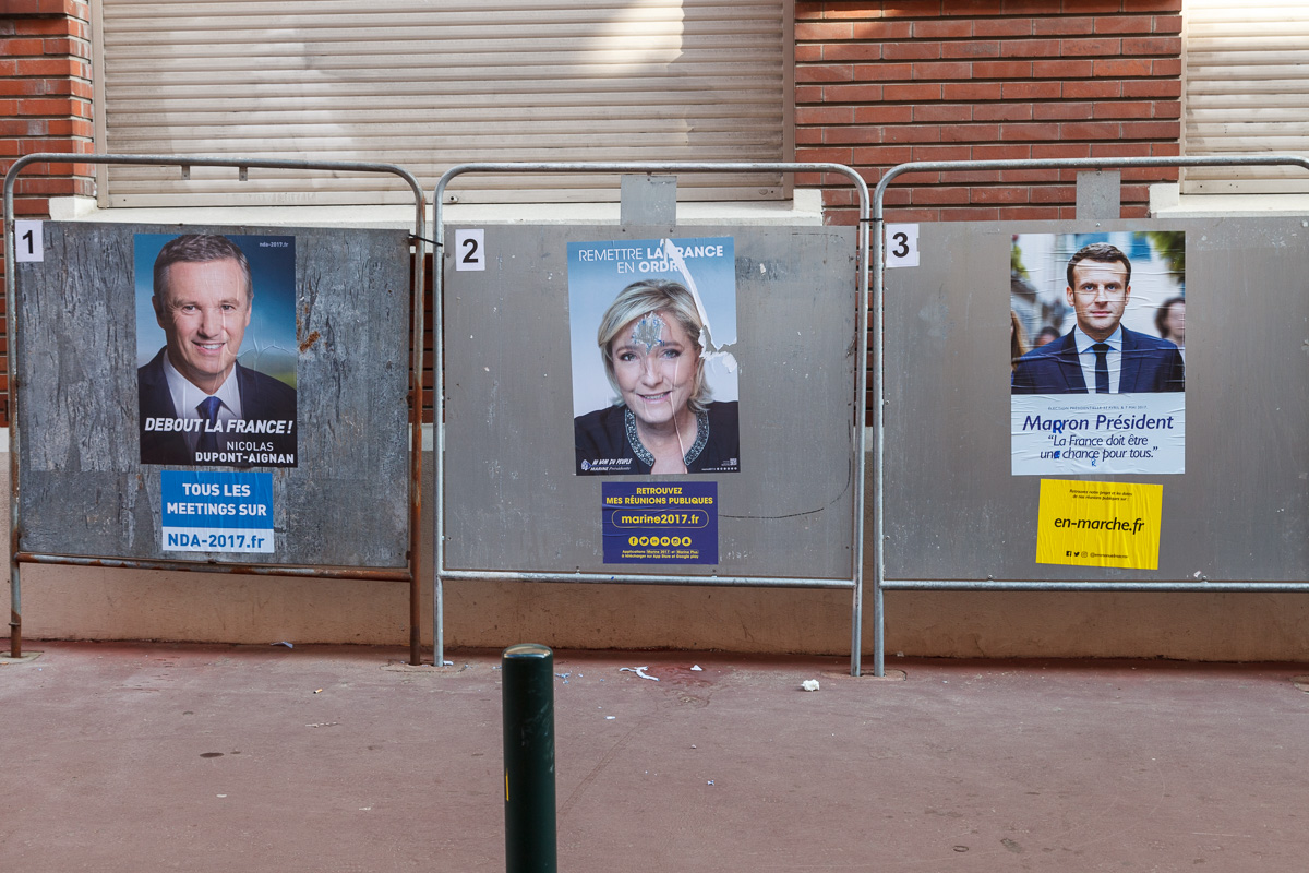 Campaign signs or posters are rare except for these next to a voting station. - WCF-8636.jpg