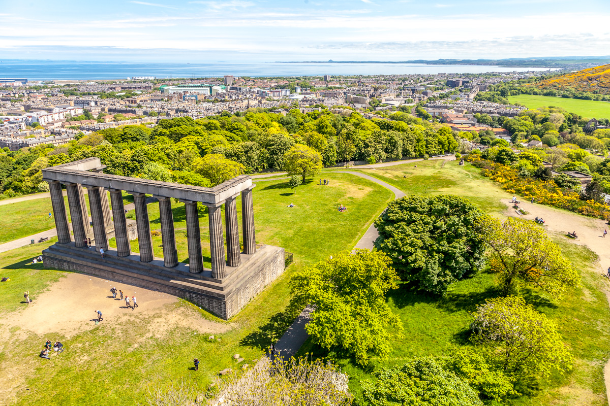 View from Nelson <br>Monument , on top <br>of Calton Hill - WCF-5191.jpg