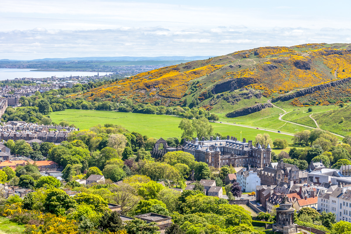 View of Holyrood Palace <br>and Park from Nelson <br>Monument - WCF-5204.jpg